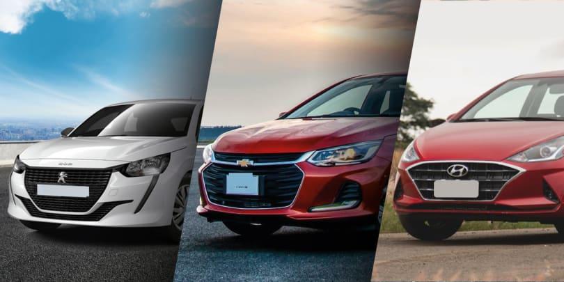 Novo Peugeot 208 de entrada ou Chevrolet Onix e Hyundai HB20 de topo?